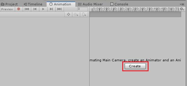 UnityのAnimationRiggingの鎖のサンプルのアニメーションのCreateボタンを押す