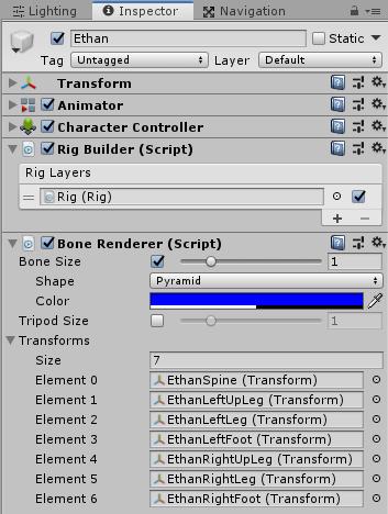UnityのAnimationRiggingのBone Rendererのサンプル設定