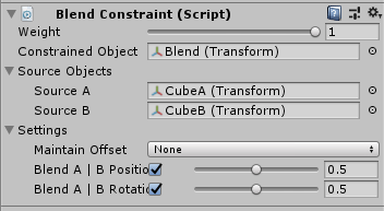 UnityのAnimationRiggingのBlend Constraint