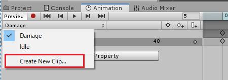 TextのIdleアニメーションクリップを作成する
