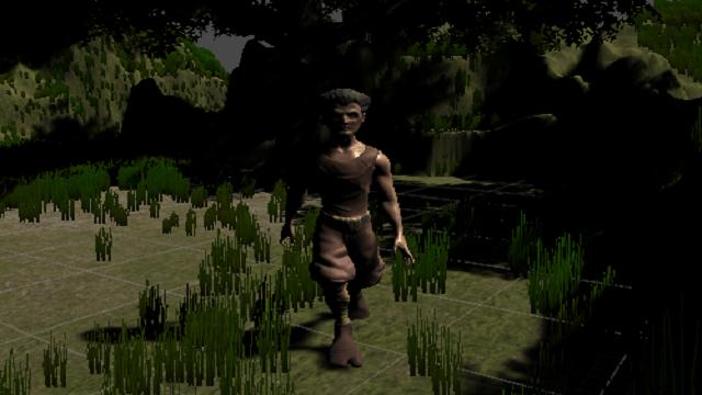 アイキャッチユニティちゃんRPGの村人が歩き回る