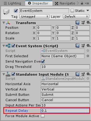 ユニティちゃんRPGのBattleシーンのEventSystemの設定