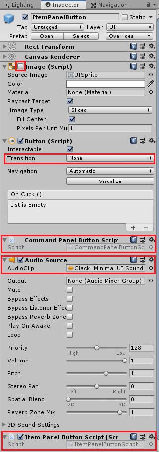 ユニティちゃんRPGのItemPanelの子要素に表示する個々のアイテムボタンのプレハブ