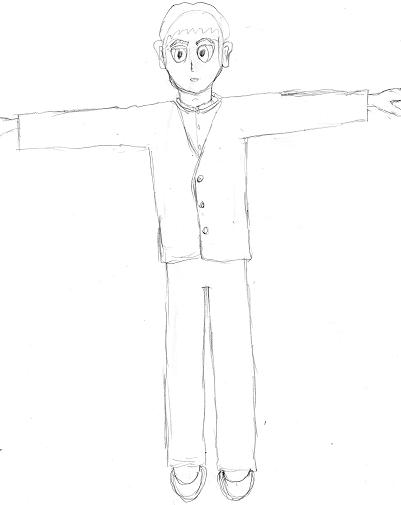 亀久米太郎下絵正面図