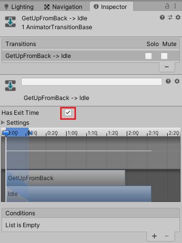 GetUpFromBack→Idleへの遷移条件