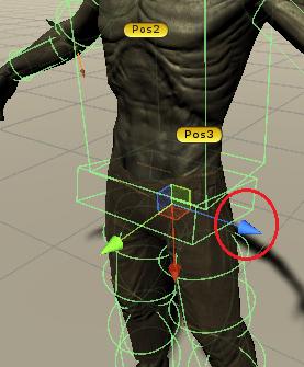 ゾンビの横の方向の矢印の色