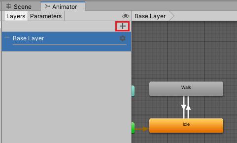 AnimatorControllerに顔用のレイヤーを作成する