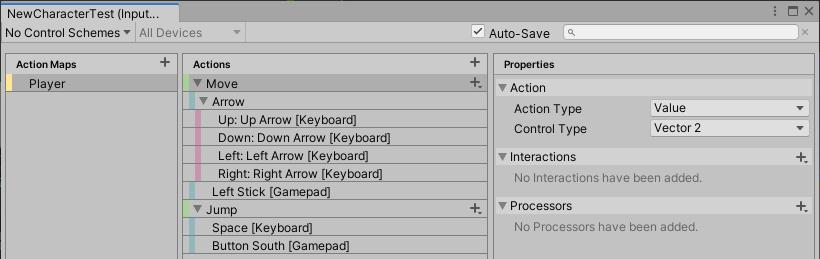 OpenCharacterControllerキャラクター用のInputSystemの設定ファイル