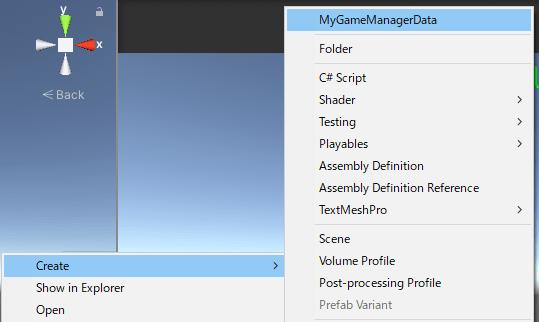 ステージ選択キャラクター選択機能全般で使うScriptableObjectのデータ作成