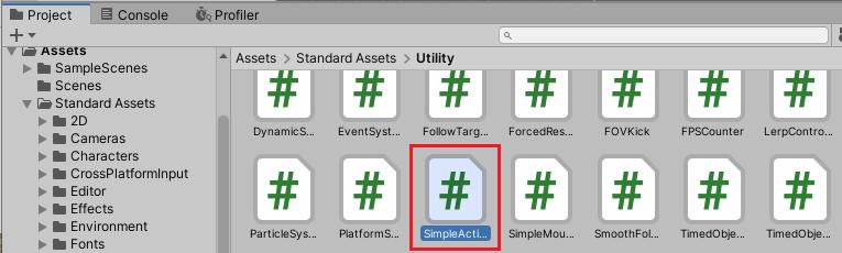 スタンダードアセットのSimpleActivatorMenu.csを削除する