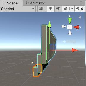 階層にした3つのCubeの形状が変わる