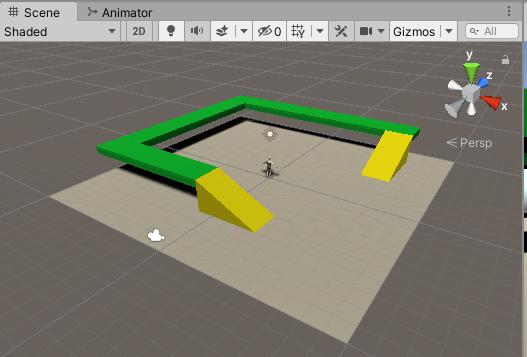 Floorゲームオブジェクトが全て緑色になった