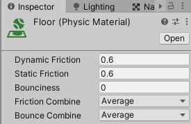 FloorPhysicMaterialの設定