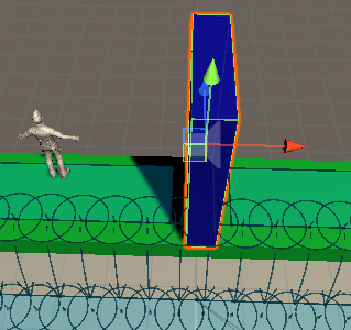 Obstacleゲームオブジェクトのルートが遮断される
