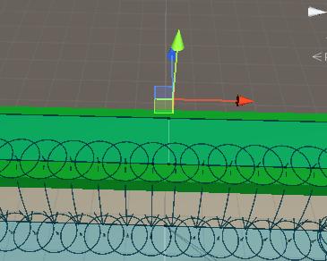 障害物消去エリアで障害物を削除すると敵キャラクターもそのルートを通れるようになる
