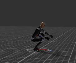HumanoidMidAirのアニメーションクリップのベースが足元になった