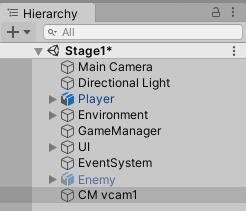 CM vcam1という仮想カメラが作成された
