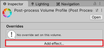 Add effect…ボタンを押してエフェクトの設定を加える
