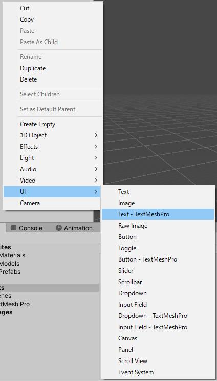 UGUI系のTextMeshProの作り方