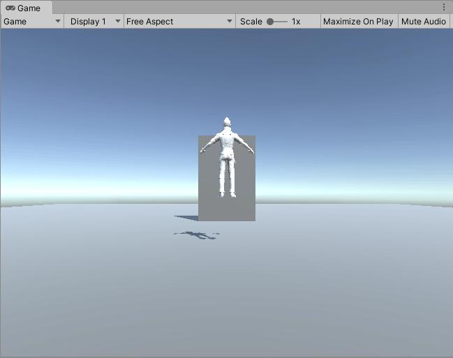 VisualScriptingのドアのサンプルでのゲームビュー