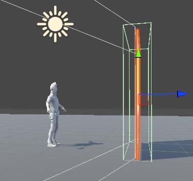 MirrorゲームオブジェクトのBoxColliderに少し幅を持たせる
