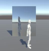 カメラの映像をそのまま鏡ゲームオブジェクトに流すと左右反転してしまう