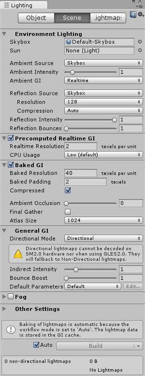 3DオブジェクトのLighting設定