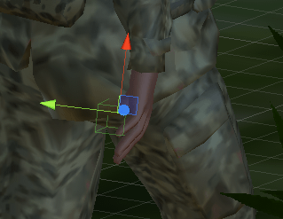 空オブジェクトEquipは右手の子要素に配置