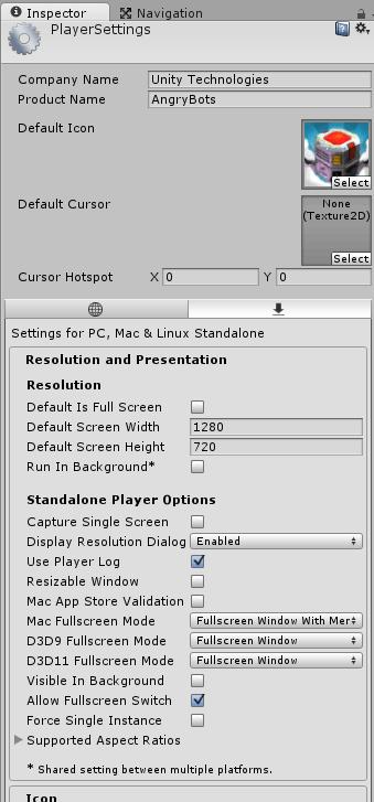PlayerSettings