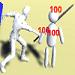 Unityのアクションゲームで与えたダメージを与えた場所にUIで表示する