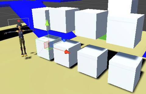 Cubeを並べて配置した画像