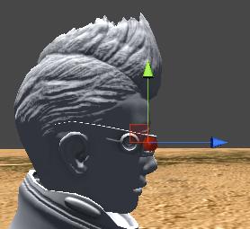目のあたりにCameraPositionを移動する
