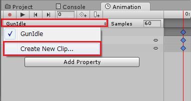 新しいAnimationClipを作成する