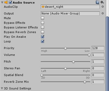 Audio Sourceコンポーネントの追加