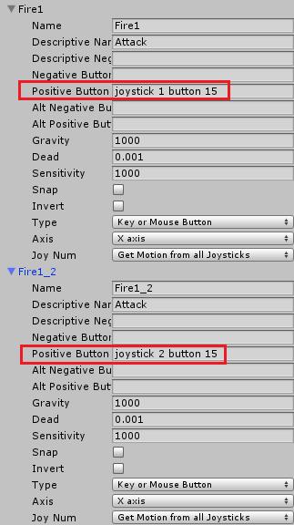 攻撃ボタンに対応するジョイスティックを変更する