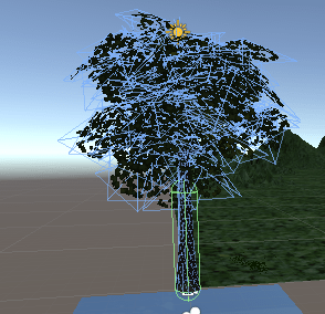 木にコライダが設定される