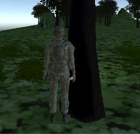 キャラクターが木にめり込まなくなった