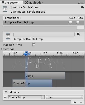 Jump→DoubleJumpへの遷移条件