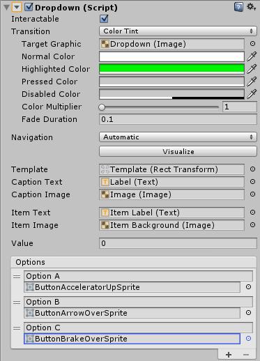 ドロップダウンリストのアイテムの背景やチェックボタンの変更
