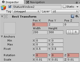Open2のフレーム1のTransform