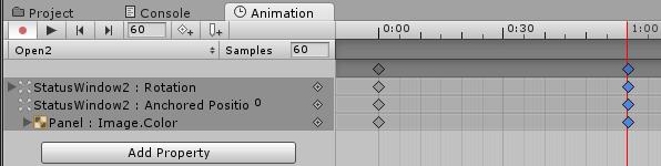 Open2アニメーションのタイムライン